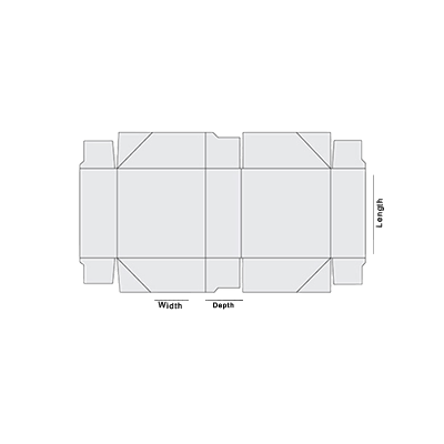 4 Corner Tray With Lid Template