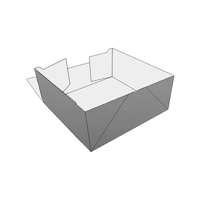 Four Corner Tray Box Packaging
