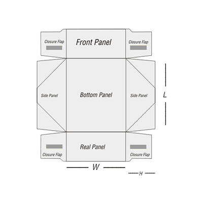 Four Corner Tray Template