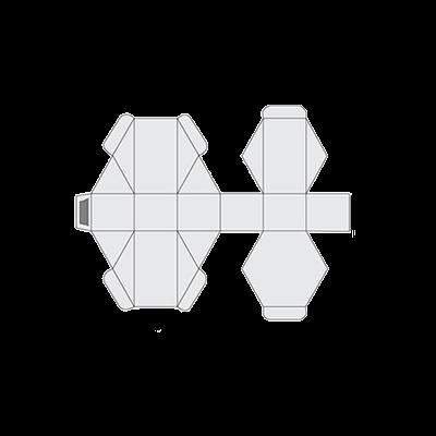 Hexagon Box Template