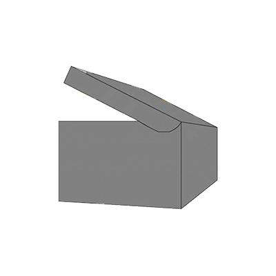 Piece Tray With Reinforced Side Wall Mockup