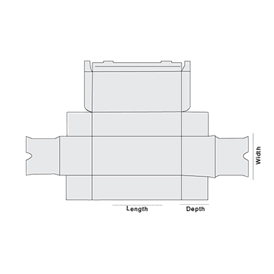 Piece Tray With Reinforced Side Wall Template