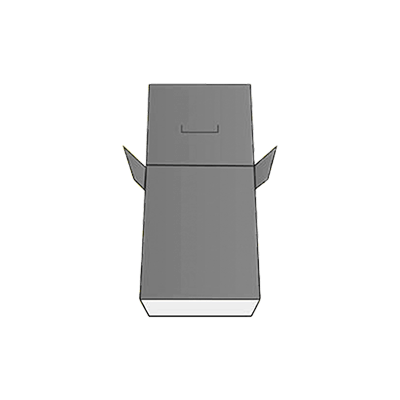 Seal End With Tear Open and Lock Box Design
