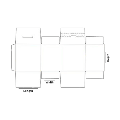 Seal End With Tear Open and Lock Box Template